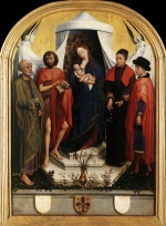 Rogier van der Weyden  - Bilder Gemälde - Virgin with the Child and Four Saints