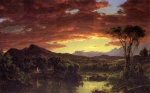 Frederic Edwin Church - Bilder Gemälde - A Country Home