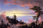 Frederic Edwin Church - Bilder Gemälde - Above the Clouds at Sunrise
