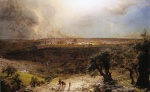 Frederic Edwin Church - Bilder Gemälde - Jerusalem from the Mount of Olives