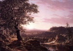 Frederic Edwin Church - Bilder Gemälde - July Sunset Berkshire County Massachusetts