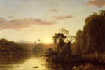 Frederic Edwin Church - Bilder Gemälde - La Magdalena (Scene on the Magdalena)
