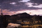 Frederic Edwin Church - Bilder Gemälde - Lake Scene in Mount Desert