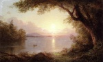 Frederic Edwin Church - Bilder Gemälde - Landscape in the Adirondacks