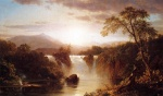 Frederic Edwin Church - Bilder Gemälde - Landscape with Waterfall