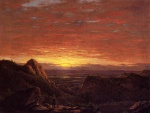 Frederic Edwin Church - Bilder Gemälde - Morning looking over the Hudson Valley from Catskill Mountains