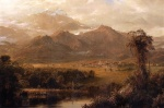 Frederic Edwin Church - Bilder Gemälde - Mountains of Ecuador (A Tropical Morning)
