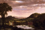 Frederic Edwin Church - Bilder Gemälde - New England Landscape (Evening after a Storm)