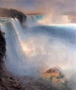 Frederic Edwin Church - Bilder Gemälde - Niagara Falls from the American Side