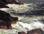 Frederic Edwin Church  - paintings - Rough Surf Mount Desert Island