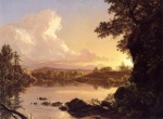 Frederic Edwin Church  - paintings - Scene on the Catskill Creek New York