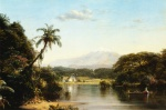 Frederic Edwin Church  - paintings - Scene on the Magdalena