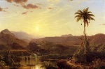 Frederic Edwin Church  - paintings - The Cordilleras Sunrise