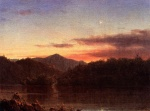Frederic Edwin Church  - paintings - The Evening Star