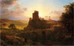 Frederic Edwin Church  - paintings - The Ruins at Sunion Greece