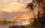 Frederic Edwin Church  - paintings - Tropical Landscape