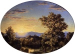 Frederic Edwin Church  - paintings - Twilight among the Mountains