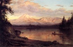 Frederic Edwin Church  - paintings - View of Mount Katahdin