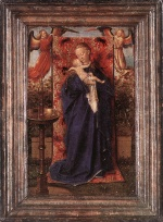 Jan van Eyck - Bilder Gemälde - Madonna and Child at the Fountain