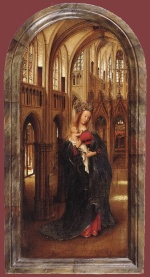 Jan van Eyck - Bilder Gemälde - Madonna in the Church