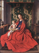 Jan van Eyck - Bilder Gemälde - Madonna with the Child Reading
