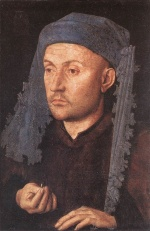 Jan van Eyck - Bilder Gemälde - Portrait of a Goldsmith (Man with Ring)