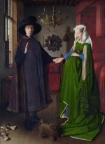 Jan van Eyck - Bilder Gemälde - Portrait of Giovanni Arnolfini and his Wife