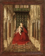 Jan van Eyck - Bilder Gemälde - Small Triptych (Central Panel)