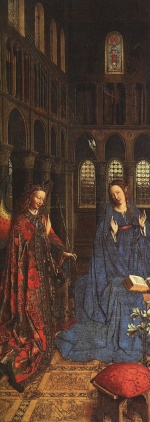 Jan van Eyck - Bilder Gemälde - The Annunciation