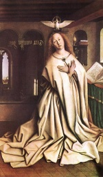 Jan van Eyck - Bilder Gemälde - Mary of the Annunciation