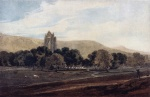 Thomas Girtin - Bilder Gemälde - Distant View of Guisborough Priory (Yorkshire)