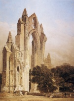 Thomas Girtin - Bilder Gemälde - Guisborough Priory (Yorkshire)