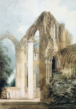 Thomas Girtin - Bilder Gemälde - Interior of Foutains Abbey