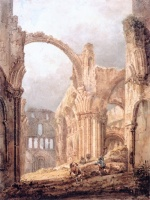 Thomas Girtin - Bilder Gemälde - Interior of Lindisfarne Priory