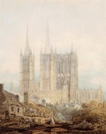 Thomas Girtin - Bilder Gemälde - Lincoln Cathedral from the West