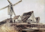 Thomas Girtin - Bilder Gemälde - Mill in Essex