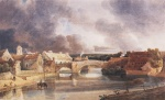 Thomas Girtin - Bilder Gemälde - Morpeth Bridge