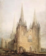 Bild:The West Front of Lichfield Cathedral