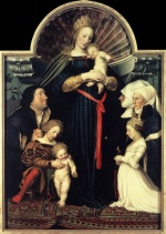 Hans Holbein - paintings - Darmstadt Madonna