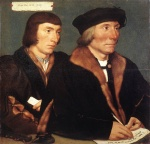 Hans Holbein - Bilder Gemälde - Double Portrait of Sir Thomas Godsalve and his Son John