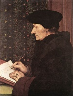 Hans Holbein - paintings - Erasmus
