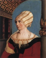 Hans Holbein - paintings - Portrait of Dorothea Meyer nee Kannengiesser