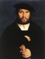 Hans Holbein - Bilder Gemälde - Portrait of a Member of the Wedigh Family