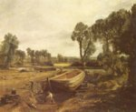 John Constable - paintings - Boat Building