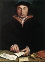 Hans Holbein - paintings - Portrait of Dirk Tybis