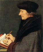 Hans Holbein - paintings - Portrait of Erasmus of Rotterdam Writing