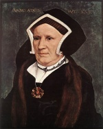 Hans Holbein - Bilder Gemälde - Portrait of Lady Margaret Butts