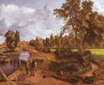 John Constable - paintings - Flatford Mill