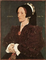 Hans Holbein - paintings - Portrait of Margaret Wyatt Lady Lee