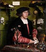 Hans Holbein - Bilder Gemälde - Portrait of the Merchant George Gisze